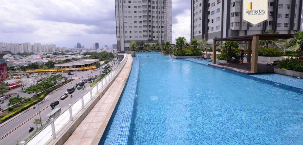 hồ bơi căn hộ cho thuê ngắn hạn