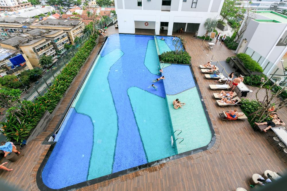 hồ bơi căn hộ cho thuê theo ngày