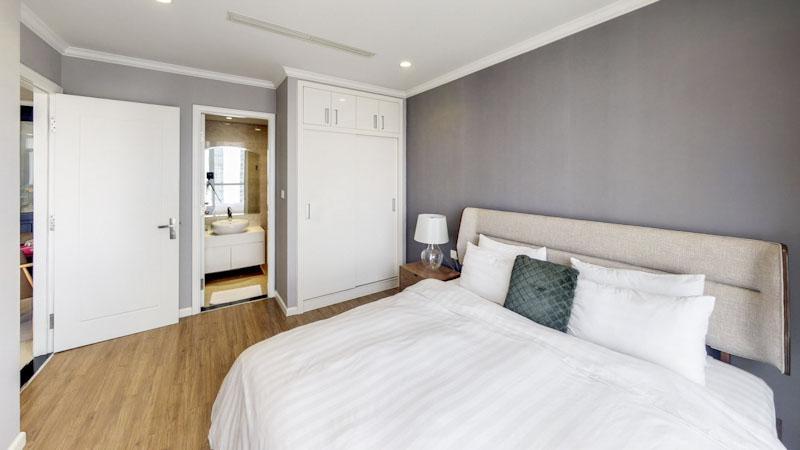 phòng ngủ master căn hộ vinhome